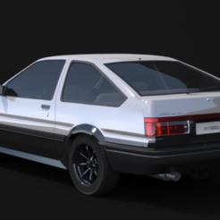AE 86 TRUENO.PNG Download free STL file Toyota AE 86 Thunder Body Mini-z • 3D printer object, tecnostudio3d
