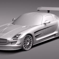 MERCEDES SLS.PNG Download free STL file MERCEDES SLS V5 1:28 MINI-Z • 3D printing model, tecnostudio3d