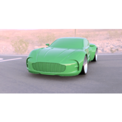 Aston_One-77_Mock_up..png Download free STL file ASTON MARTIN ONE - 77 MINI-Z BODY • Object to 3D print, tecnostudio3d