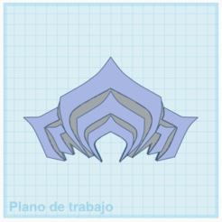 WF1.png Download STL file Warframe Logo • Template to 3D print, kevinroblesparedes