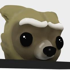 rocket render2.jpg Télécharger fichier STL Fusée raton laveur (Pot) • Design imprimable en 3D, Hunddie