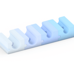 Cable clip assembly.png Download free STL file Modular cable clips • 3D print template, Timtim