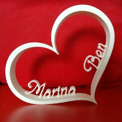 IMG_20201220_100014.jpg Download STL file Customized Heart with Personalized Names • Object to 3D print, benspawn