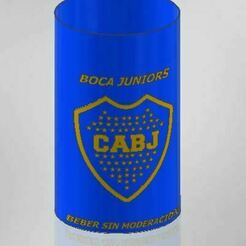 Porta latas boca.JPG Download STL file Boca Juniors • 3D printer template, jorgeomaro222