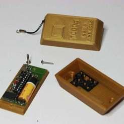 IMG_4991.JPG Télécharger fichier STL gratuit Boîtier de remplacement pour le Came TOP-432s Gate remote • Modèle imprimable en 3D, parek
