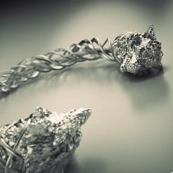 s2.jpg Download STL file Bracelet Viking Wolf  • 3D printing model, MaciejRasala
