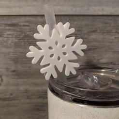 PXL_20201111_150525369.jpg Download STL file Snowflake Straw Topper • 3D print design, ktprocraftinates