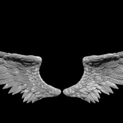 wingsprint1.jpg Télécharger fichier STL Angel Wings - Modèle d'impression 3D prêt à l'emploi • Modèle imprimable en 3D, Droppingformdesigns