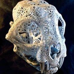 preview1.jpg Download STL file Filigree Anatomical Bobcat Skull • 3D print template, Droppingformdesigns
