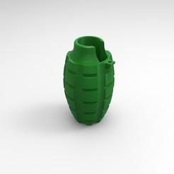 Renders Clipper.179.jpg Télécharger fichier STL Grenade MK2 pour briquet Clipper • Modèle pour imprimante 3D, JoakoZarza