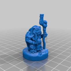 SwampShamanBHG.png Télécharger fichier STL gratuit Shaman des marais 28mm Mini support gratuit • Objet à imprimer en 3D, BelvedereHouseGames