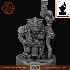 SwampShamanBHG.jpg Download free STL file Swamp Shaman 28mm No Support • 3D printer design, BelvedereHouseGames