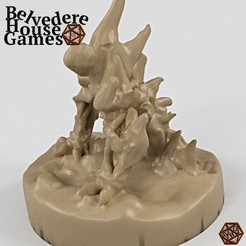 SkeletonWarHoundBHGr.jpg Télécharger fichier STL gratuit Skeleton WarHound 28mm Mini Support Free • Objet pour imprimante 3D, BelvedereHouseGames
