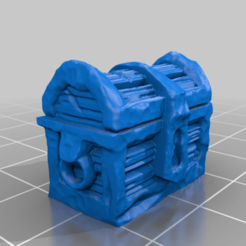 DungeonChestBHG.png Download free STL file Dungeon Chest Mimic 28mm Support Free • 3D printable template, BelvedereHouseGames