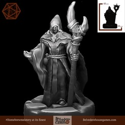 DarkWizardOptionTwo.jpg Download free STL file Dark Wizard 28mm Support Free • Template to 3D print, BelvedereHouseGames