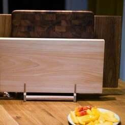 BrettchenCo_1_von_9.JPG Télécharger fichier STL gratuit Planche à découper, support de planche à déjeuner Plastique n Bois • Plan pour impression 3D, MeisterEdel