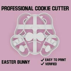 easter bunny cookie cutter.jpg Télécharger fichier STL Lapin de Pâques Découpeur de biscuits • Modèle imprimable en 3D, Cookiecutters