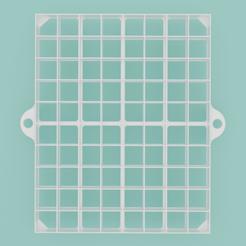 Oznacovac-rezu-stvorcovy-007.png Download STL file Square slice marker, 80 sections • 3D printable model, Cookiecutters