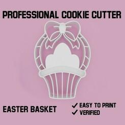 easter basket cookie cutter.jpg Télécharger fichier STL Panier de Pâques Coupe-biscuits • Plan imprimable en 3D, Cookiecutters
