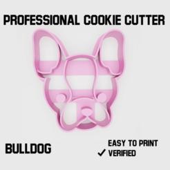 bulldog2.png Télécharger fichier STL Bouledogue Coupeur de biscuits • Objet pour imprimante 3D, Cookiecutters