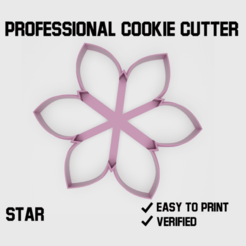 Star cookie cutter2.png Download STL file Star Cookie cutter • Object to 3D print, Cookiecutters
