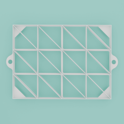 Oznacovac-rezu-trojuholnikovy-001.png Download STL file Triangle slice marker, 24 sections • 3D printable object, Cookiecutters