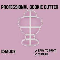 Chalice Cookie cutter.jpg Download STL file Chalice Cookie cutter • 3D print template, Cookiecutters