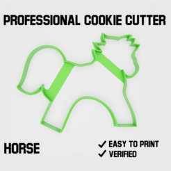 Horse cookie cutter2.png Download STL file Horse Cookie cutter • 3D printing model, Cookiecutters