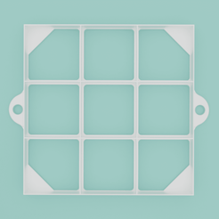 Oznacovac-rezu-stvorcovy-004.png Download STL file Square slice marker, 9 sections • 3D printer object, Cookiecutters