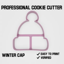 winter cap cookie cutter2.png Download STL file Winter cap Cookie cutter • 3D printing model, Cookiecutters