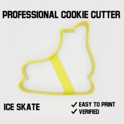 Ice skate cookie cutter2.png Télécharger fichier STL Patin à glace Coupe-biscuit • Design à imprimer en 3D, Cookiecutters