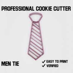 men-tie2.png Download STL file Men Tie Cookie cutter • Object to 3D print, Cookiecutters