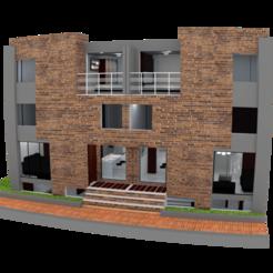 fachada.png Télécharger fichier STL MAISON RÉSIDENTIELLE • Design à imprimer en 3D, frederickmiv