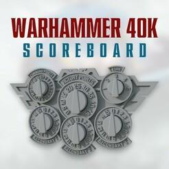 03.jpg Télécharger fichier STL Tableau d'affichage de Warhammer 40000 • Plan pour impression 3D, MotionDesign3D