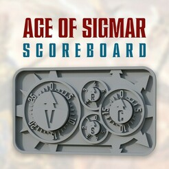 02.jpg Download STL file Age of Sigmar Scoreboard • 3D printing object, MotionDesign3D