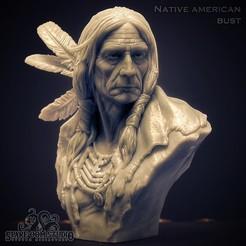 1na6-01.jpg Download STL file Native American Bust -Pre-supported • 3D printable design, Spare_Oom_Studio