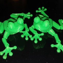 Download STL file Cute Flexi Print-in-Place Frog • Template to 3D print, saxoploum