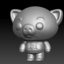 Cerdo.png Télécharger fichier STL Hoggie - Ami de Plim Plim • Design pour impression 3D, Abadis3D