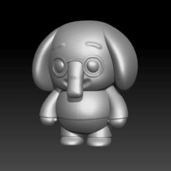 Elefante.png Download STL file Nesho - Plim Plim Friend • 3D printer design, Abadis3D