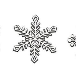 Screenshot_1.jpg Download STL file Christmas decoration - Snowflakes SET1 • 3D printing object, FairJohny