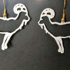 goat_outline_earring.jpg Download free STL file Goat outline earring • 3D printer template, rtezsla