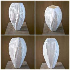 128190826_200511068207592_7815126510811696957_n.jpg Download STL file Waterfall vase • 3D printable template, rtezsla