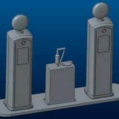 container_gas-station-route-66-3d-printing-109855.jpg Download STL file Gas station Route 66 • Model to 3D print, Gekon3D