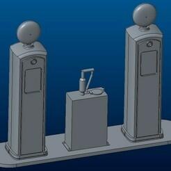 container_gas-station-route-66-3d-printing-109855.jpg Télécharger fichier STL Station-service Route 66 • Plan à imprimer en 3D, Gekon3D