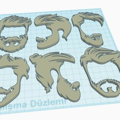 Vector Vintage Hairstyle1.jpg Download free STL file Vintage Hair Style • Object to 3D print, mustisoft