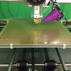Clip.png Download free STL file 3DRag K8200 Clip For 3mm Glass • 3D print model, Prax