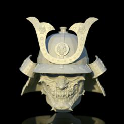 untitled.591.png Télécharger fichier OBJ Casque de samouraï (Kabuto) • Objet pour impression 3D, mariusciulei