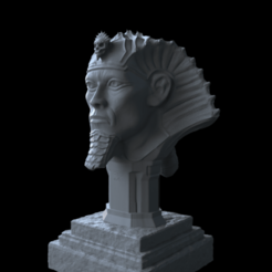 untitled.437.png Download OBJ file Pharaon Bust omsx • 3D printer design, mariusciulei