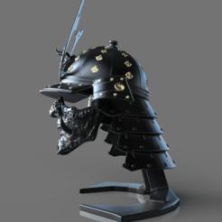 untitled.700.png Download STL file Samurai Helmet 2 (Kabuto) - Ornamental • 3D print model, mariusciulei