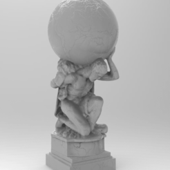 untitled.364.png Download free OBJ file Atlas, the Titan Who Held the World upon His Shoulders. • 3D printer template, mariusciulei